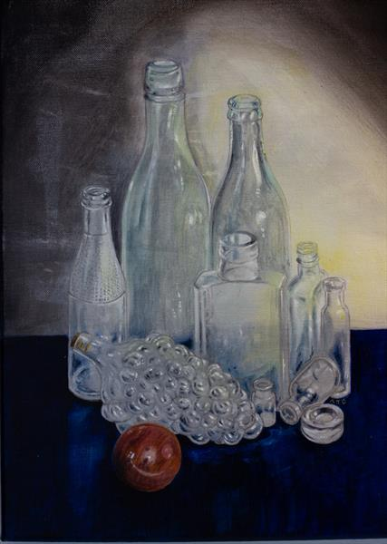 Some old bottles I found on the Hill. by Antony Griffiths