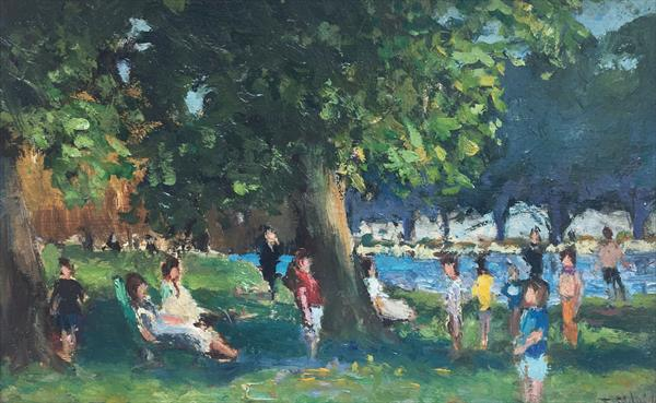 Summer, Children in Hyde Park, London by Terence Eldridge