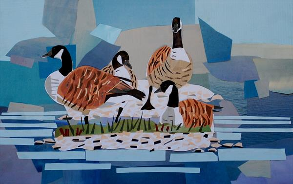 canada geese by Jane Holford-atkin