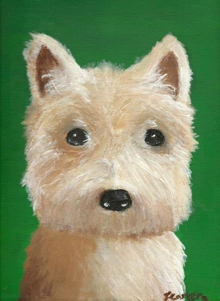 West Highland White Terrier Dog by Tanya Carter