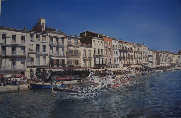 River Jousting at Sete by james earley