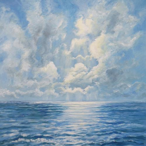 Morning Sun on the Sea by Sandra Francis