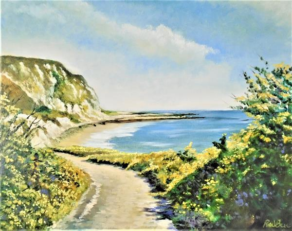 The path to the sea Folkestone Kent by Rod Bere