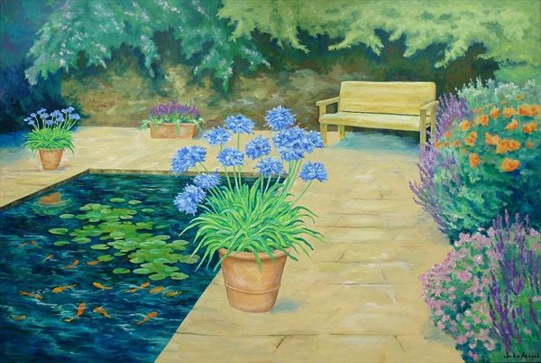 Blue serenity by Jackie Adshead