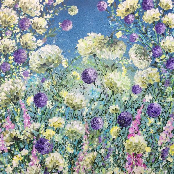 Lilac and Lemon Floral  by Janice  Rogers