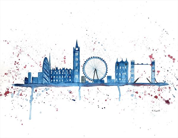 London skyline (original watercolour)