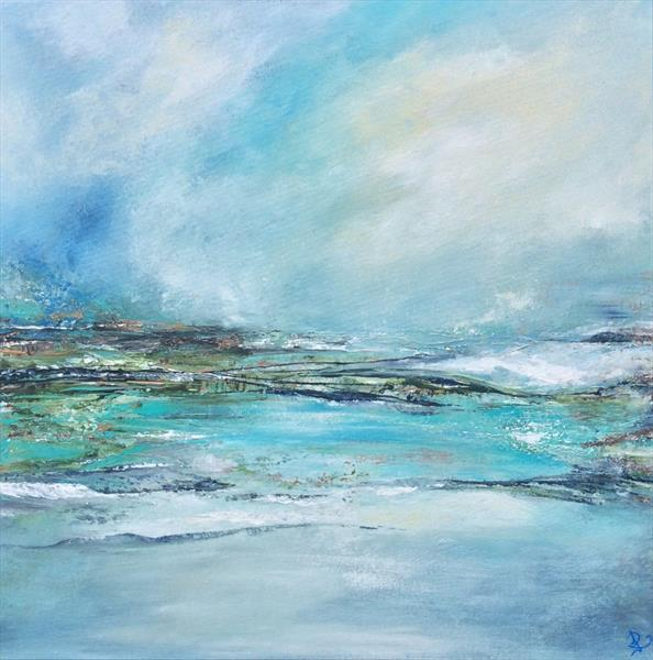 Abstract Welsh Seascape  by Janice  Rogers