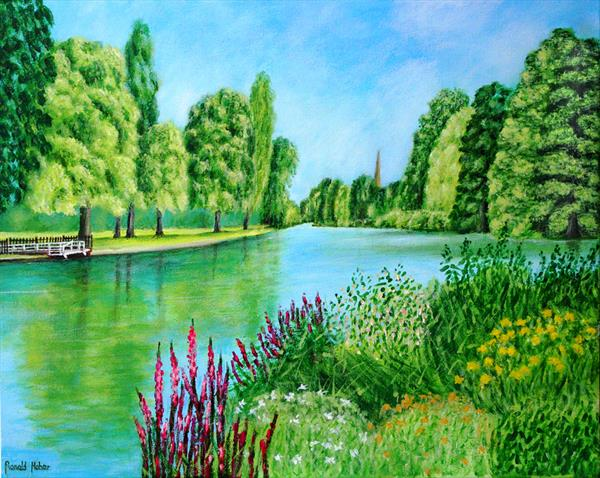The River Avon at Stratford upon Avon by Ronald Haber
