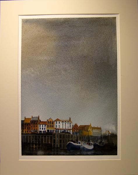 Whitby Harbour, Northside by Gary Kitchen