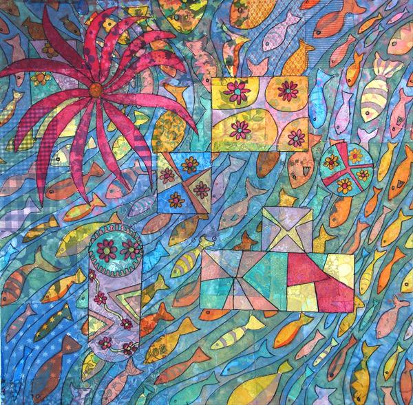 Doodle To Fabric by Linda Calverley