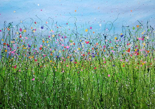 Walking Back To Happiness - Abstract Meadows by Lucy Moore