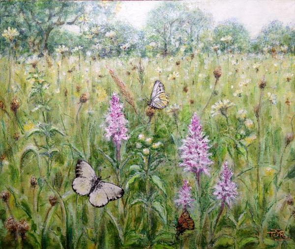 Meadowland - Joyous June by Theresa  Robinson