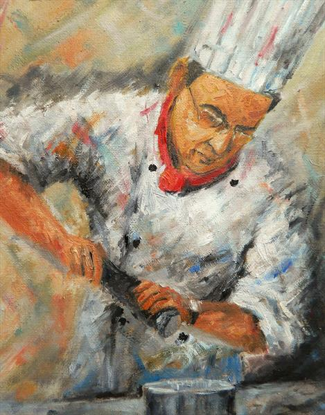 Figurative Study 2016 - 0183 - Master Chef by James Odubote