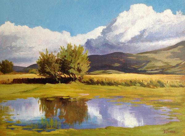 Reflection, Brecon Beacons by Dawn Harries
