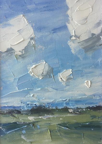 Drifting Clouds in the January Sky by Alan Daysh