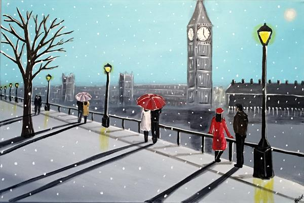 Snowing In London 6 by Aisha Haider
