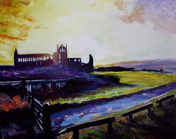 Whitby Abbey Winter II by Simon Jones