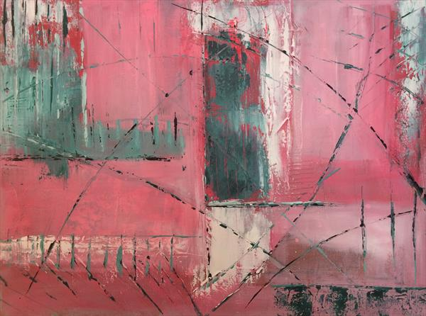 Urban Abstract in Pink by Rosie Cunningham