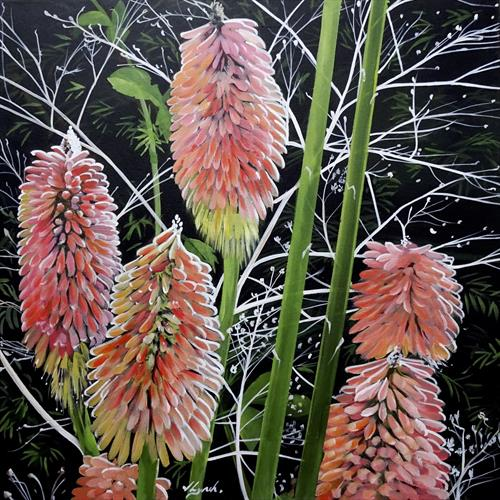 Red Hot Pokers (Kniphofia) by Joseph Lynch