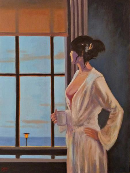 Baby Bye Bye after Jack Vettriano by David Moore