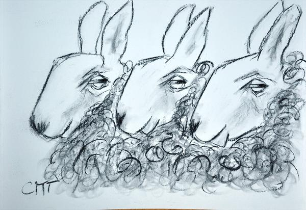 Here Come the Girls..... (Limited Edition Print)  by Carolyn Towers