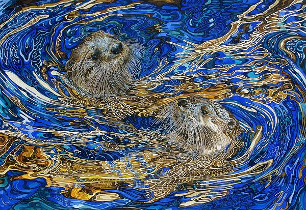 Rhaposdy in blue and gold by Rhian Symes