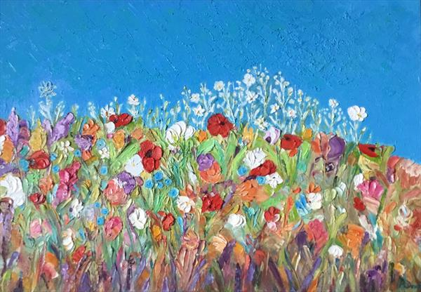 A HAPPY PLACE...WILDFLOWERS by Phyllis Denton
