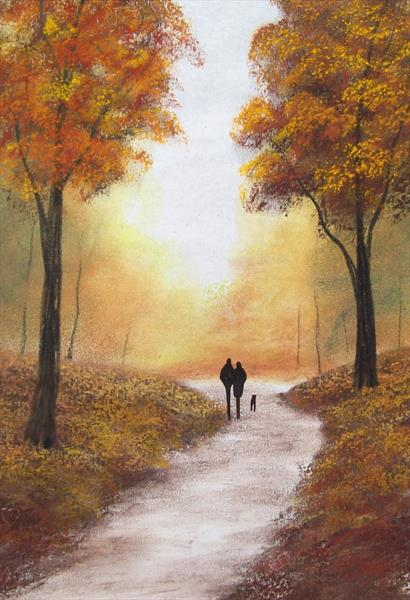 Autumn Morning Walk 2# by Patricia Richards