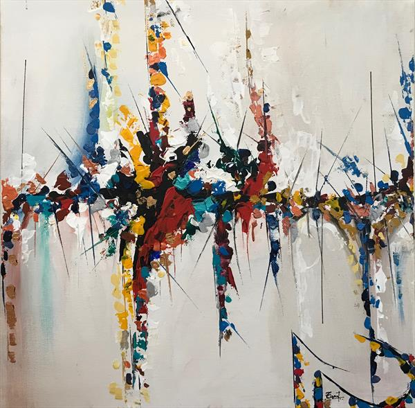 Speed  Abstract Painting 102  by  Rizna  Munsif