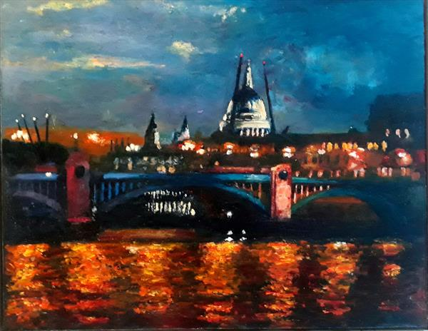 Blackfriars at night by Will Smith