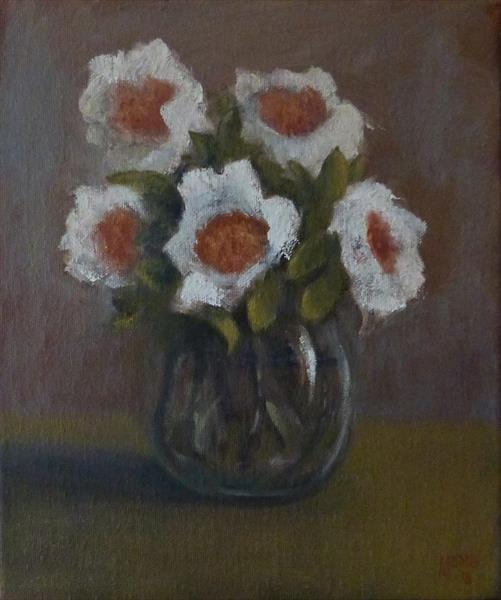 Five Flowers in a Vase by David Moore