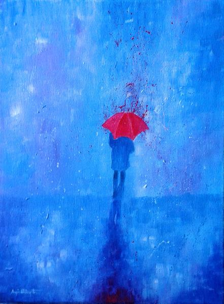 The Red Umbrella by Angie Livingstone