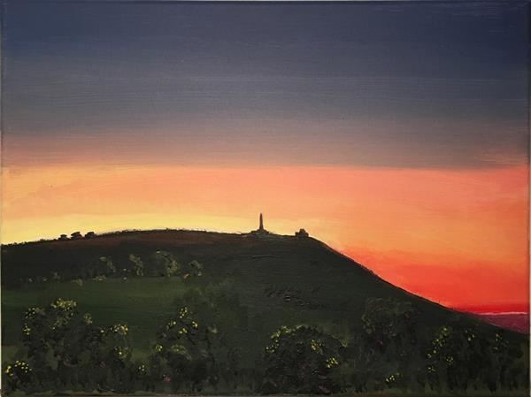 Evening sky behind Carn Brea, Cornwall by Simon Farnell