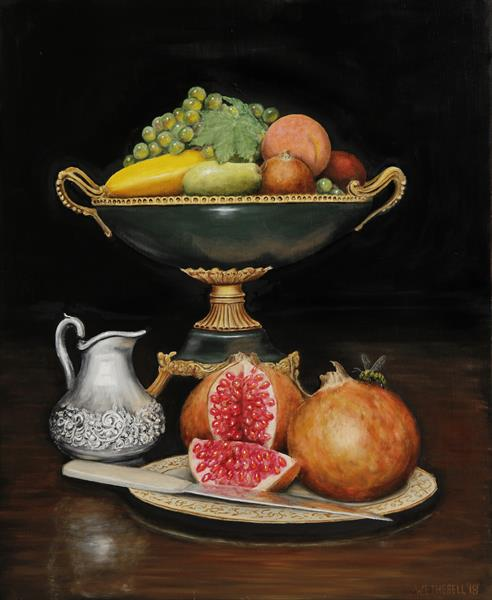 Still life with pomegranates by Tim Wetherell