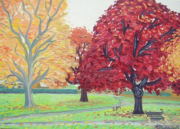 Autumn Trees by Kirsty Wain