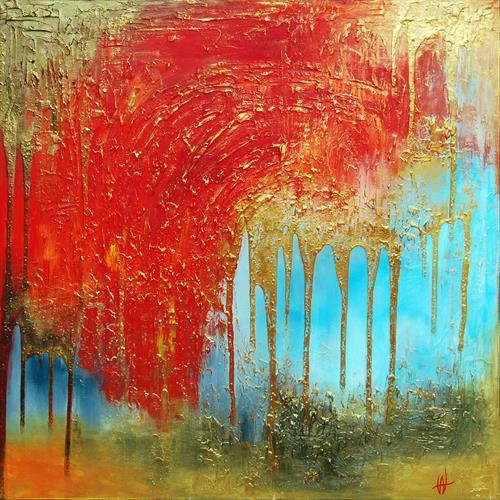 ABSTRACT ART - DAWN OF A HAPPY DAY by Ada Van