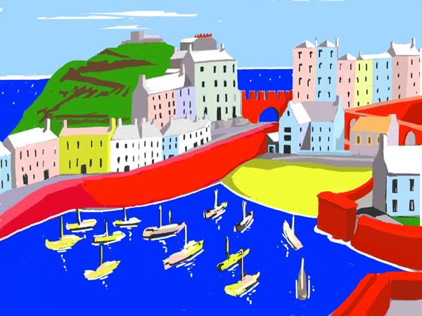 Tenby in Abstract by Christopher Langley