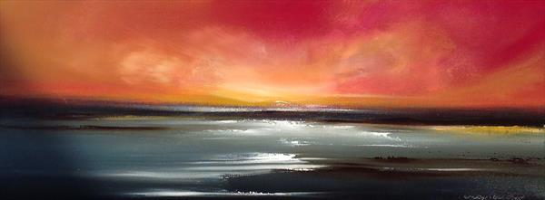 Amber Glow over St Johns Bay (commission) by Verity Westwood