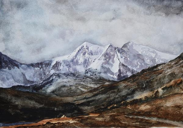 Snowdonia in Winter by Mike Paget