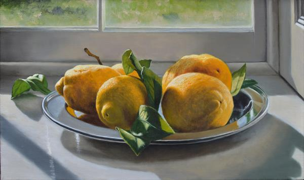 Lemons on a Silver Plate by Andrew Mcneile Jones