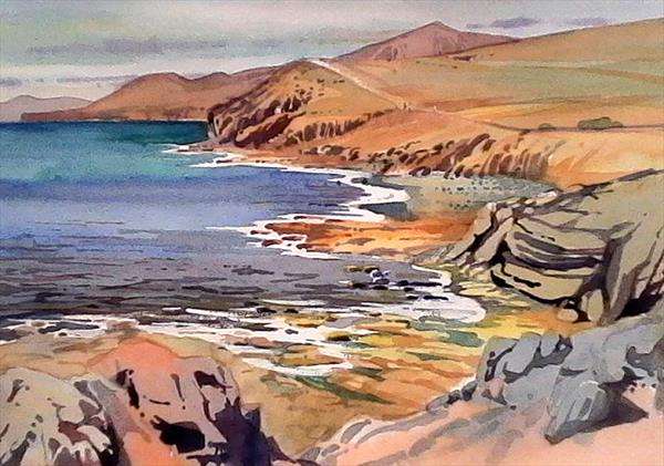 Lanzarote, Heading South from Puerto Calero by Peter Day