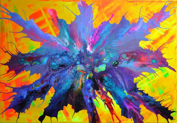 Pandora's Joy - 100x70 cm - Big Painting XL - Large Abstract, Supersized Painting - Ready to Hang by Soos Tiberiu - Anton