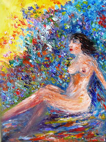Sunbathing nude by Mary Ann Day