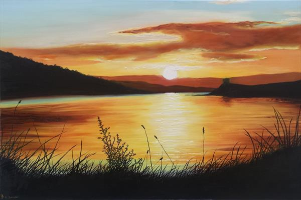 Sunrise Over Bute by Hazel Thomson