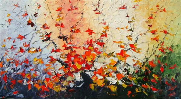 Amazing Fall (On Display At the Art Gallery, Tetbury) by Rumen Dragiev