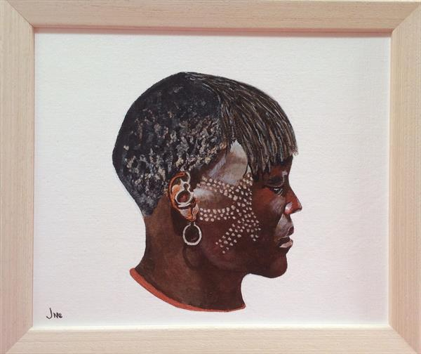 Tribal woman by Jane Spiers