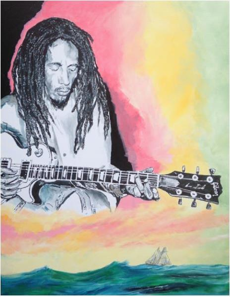 Redemption Song (very large canvas) by David King