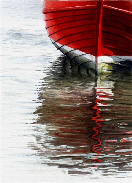 Ripples in red by Wayne Ford