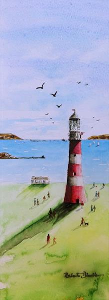 Smeaton's Tower, Plymouth Hoe by Roberta Blackler