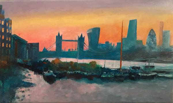The Tower Bridge Floating Garden at sunset by Will Smith